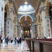 Wnętrze Bazyliki św. Piotra