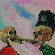 James Ensor - Szkielety bijące się o wędzonego śledzia