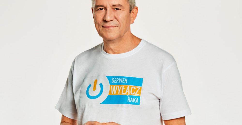 Servier - wyłącz raka. Andrzej Zieliński - ambasador akcji